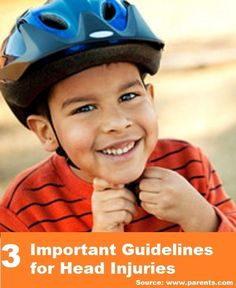 3 Important Guidelines for Head Injuries...For more kids' health and wellness tips and ideas FOLLOW https://www.facebook.com/myfavoritehealthtips