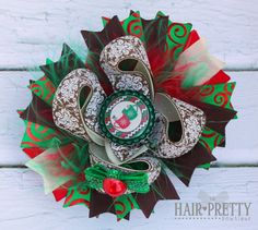 Hot Cocoa Boutique Stacked hair bow