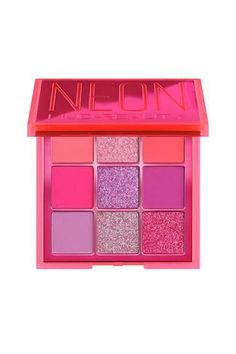Shop Huda Beauty's Neon Obsessions Palette at Sephora. A range of neon pressed pigment palettes, inspired by Huda's obsessions for Neon colors. Huda Palette, Pink Palette, Pink Eyeshadow Palette, Sephora, Makeup Pallets, This Is Us Quotes, Eyeshadow Brushes, Makeup Brands, Neon Colors