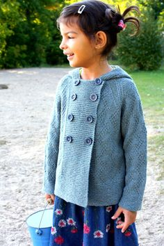 LITTLE WILLOW Hooded Double Breasted Jacket 3 by LittleLambyKnits
