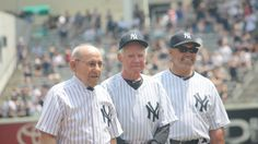 Yogi, Whitey, and Reggie My Yankees, New York Yankees, Old Timers Day, Reggie Jackson, Baltimore Orioles, Baseball, Boys, Summer, Baseball Promposals