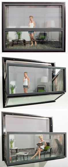 Bloomframe® is an innovative window that morphs magically into a balcony at the touch of a button // amazing product!