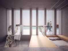 Room - Conceptual render by dms infoarquitectura