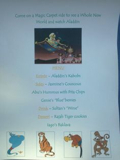 Disney Dinner Nights - Aladdin