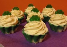 Sweet Mint Cupcake Soap