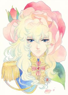 Lady Oscar Fan Art, from the manga Rose of Versailles Manga Art, Anime Manga, Anime Art, Oscar Cartoon, Lady Oscar, Illusion Photos, Old Anime, Anime Style, Kawaii Anime