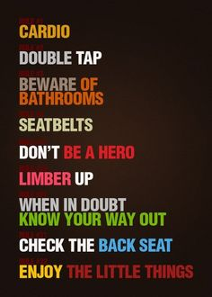 Zombieland rules to live by