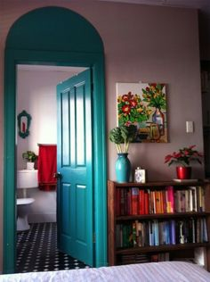 paint a door to add color to a home