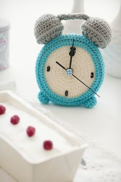 Adorable Crochet Clock ~ Inspiration Only, no pattern.