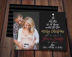christmas pregnancy announcement card by anietillustration on etsy - Pregnancy Announcement Christmas Card