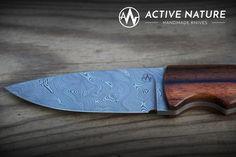 Active Nature - Handmade Knives Model: TS III AN made from Damasteel Damascus and Makassar handles Makassar, Handmade Knives, Damascus, Nature, Model, Collectible Knives, Damask