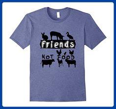 Mens veganshirts: FRIENDS NOT FOOD T-Shirt 2XL Heather Blue - Food and drink shirts (*Amazon Partner-Link)