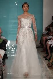 Reem Acra wedding dress with sleeves
