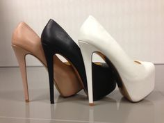 "Mesmerizing ""Me Chelle"" from Luichiny Shoes - http://www.heels.com/womens-shoes/me-chelle-nude-leather.html"