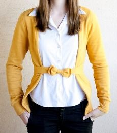tute: turn a hoodie into a chic belted cardigan