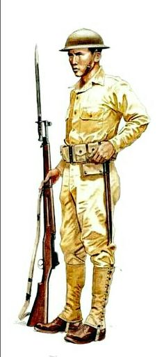 Filipino soldier, WWII - pin by Paolo Marzioli Ww2 Uniforms, Military Uniforms, Ww2 Weapons, Philippine Art, Bataan, Korean War, Military Equipment, Dark Ages, Book Illustrations