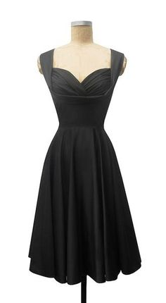 Beautiful and simple black dress every woman should have. The sweetheart neckline adds a bit of a vintage feel to it as well without it getting complicated.