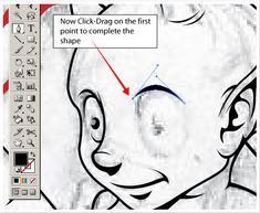 "Tutorial on ""inking"" with Adobe Illustrator"