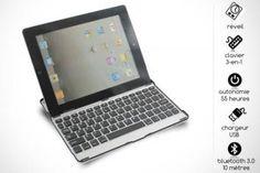 Transformez votre iPad 2 en ordinateur grâce à une clavier mi-coque de protection.