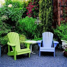 Calling it Home: Adirondack Chairs  Great colors!