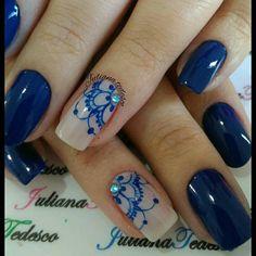 More blue nails 💙 Spring Nail Art, Spring Nails, Finger Art, Nail Art Videos, Diy Nail Designs, Nail Art Hacks, Nail Tutorials, Blue Nails, Short Nails