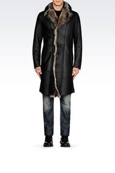 Emporio Armani Men Leather Coat - RUNWAY COAT IN NAPA SHEEPSKIN Emporio Armani Official Online Store