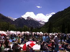 telluride music festival I also want to make it here Colorado has got to gorgeous