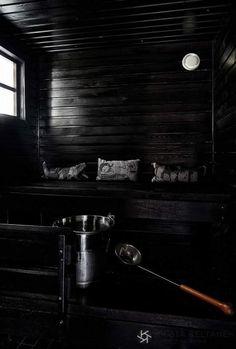 The black small sauna.