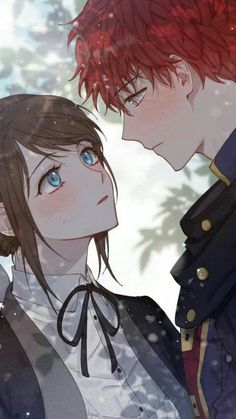 Anime Couples Drawings, Anime Couples Manga, Cute Anime Couples, Romantic Anime Couples, Manga Love, Anime Love, Couple Manga, Mystic Messenger Characters, Romantic Manga