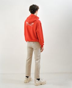 Revive your laid-back edit with Balenciaga's postbox-red sweatshirt. It's crafted from cotton loop-back jersey and printed with the brand name irreverently reinvented in the logo of Bernie Sanders's 2016 U.S. presidential campaign design. Fits true to size.