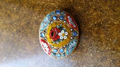 Vintage Gold Tone Micro Mosaic Milliefiori by PurveyorsOfHope