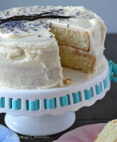 Vanilla Lavender Cake - Red Cottage Chronicles