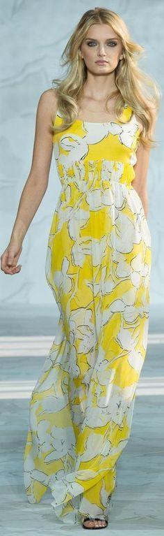 @roressclothes clothing ideas #women fashion maxi dress Diane von Furstenberg Spring/Summer 2015