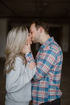 An industrial engagement session is what we needed for these newly engaged people! I absolutely love the grey sweater paired with the red and blue checkered men's shirt. It's the perfect outfits for what to wear for engagement photos. Photographed in Tennessee by Knoxville Wedding Photographer Erin Morrison Photography www.erinmorrisonphotography.com #engagementphotos #engagementphotography #downtownweddingphotos #urbanengagementphotos Engagement Photography, Engagement Session, Urban Engagement Photos, Positive Self Affirmations, Engagement Dresses, Social Events, Grey Sweater, Getting Married, Tennessee