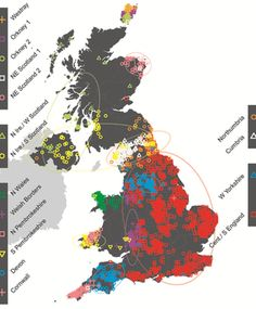 DNA study shows Celts are not a unique genetic group ---Genetic Map of the UK