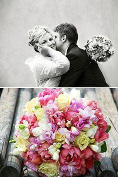 Kulatá svatební kytice