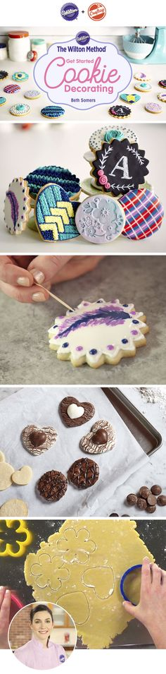 Discover cookie techniques for baking and decorating beautiful cookies that will be the talk of every party.  Learn how to decorate cookies that will be remembered long after they've been devoured, with guidance from Wilton Director of Content Development, Beth Somers!