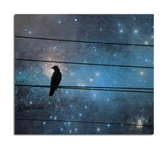Celestial Art Surreal Otherworldly Crow Raven Image  by gothicrow, $17.00