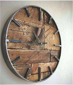 36 Fabulous Minimalist Wall Clocks DIY for Modern Home Decor Ideas - Best Warm Home Decor ideas Clock Art, Diy Clock, Clock Decor, Diy Wall Decor, Home Decor Wall Art, Clock Ideas, Wood Wall Design, Wall Clock Design, Minimalist Wall Clocks