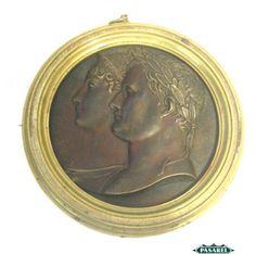 Pasarel - Napoleon Bonaparte & Marie Louise Bronze Medal, France, Ca 1900. $1075.00