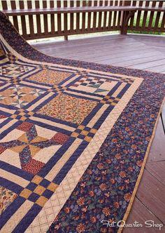 Quilt made from blocks originally printed in the Kansas City Star Newspaper - Fat Quarter Shop's Jolly Jabber