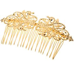 Bride Hair Comb 24k Gold Plated Bridal Hair Comb Victorian Shabby Chic... ($22) ❤ liked on Polyvore featuring accessories, hair accessories, decorative combs, pink, gold comb, bridal comb, hair combs, pink hair accessories and victorian comb