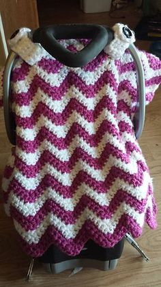 Chunky Chevron Car Seat Canopy Cover pattern by Crochet by Jennifer & Little Owl Car Seat Canopy By Megan Meyer - Free Crochet Pattern ...