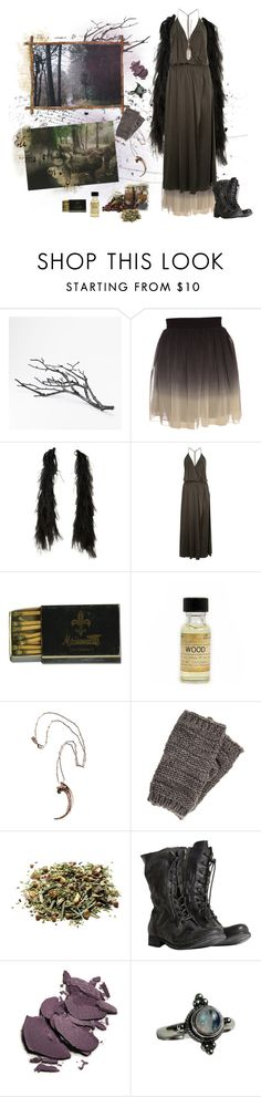 """run with the wolves"" by lilafairy ❤ liked on Polyvore featuring West Elm, Oasis, Vanessa Bruno, Portland General Store, Pamela Love, Pieces, AllSaints, By Terry and Gypsy"