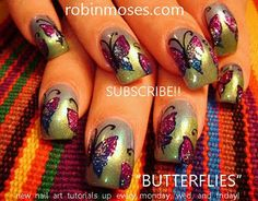 butterfly nail art eyeshadow nails design  http://www.youtube.com/watch?v=gRGrOM_4JXU