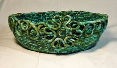 Multi Colored Wrapped Basket by ArtsNTreasuredGifts on Etsy