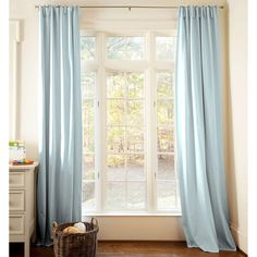 Drapery Panel In Solid Robinu0027s Egg Blue By Carousel Designs.