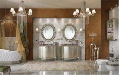 Classic bathroom design - large and beautiful photos. Photo to select Classic bathroom design Silver Bathroom, Modern Bathroom, Master Bathroom, Bathroom Ideas, Bathroom Designs, Silver Vanity, Bathroom Vanities, Bathroom Wall, Royal Bathroom