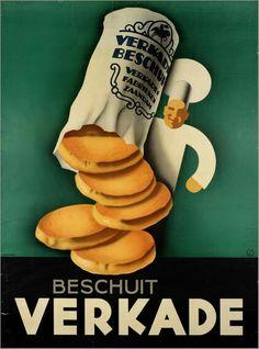 Old dutch Verkade add. Vintage Advertising Posters, Advertising Design, Vintage Advertisements, Vintage Posters, Old Commercials, Art Deco Posters, Magazine Ads, Vintage Pins, Historical Photos