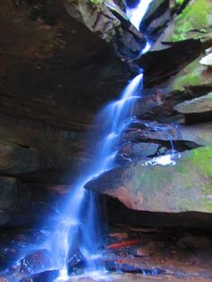 Broken Rock Falls. Hocking Hills, Ohio. I took this photo with a vivid color setting on my camera.